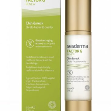 "FACTOR G RENEW Chin & neck winner of ""most innovative antiage product"""
