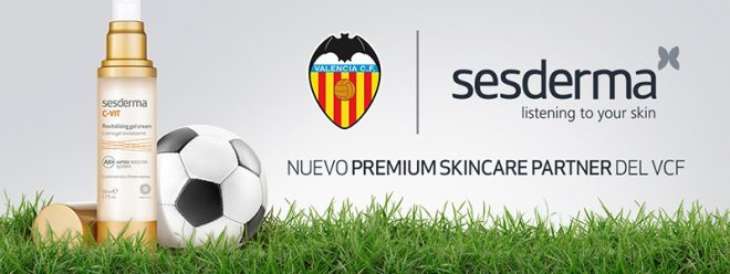 Sesderma, nuevo Premium Skincare Partner del Valencia CF