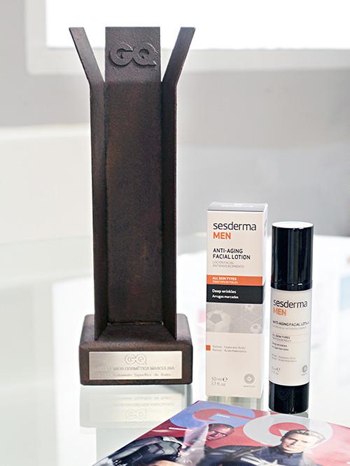 GQ  picks Sesderma MEN antiaging facial lotion as best facial treatment