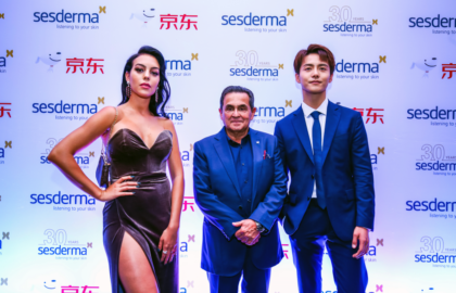 Sesderma presents its new Chinese ambassador Ma Tian Yu introduced by with Georgina Rodríguez