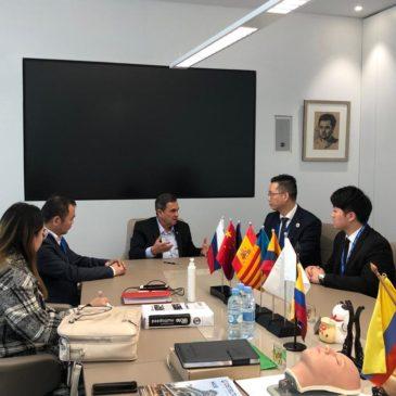El presidente de la Asoc. China de Emprendedores de la provincia de Fujian en España visita Sesderma