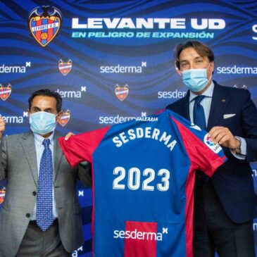 Sesderma becomes Platinum Partner of Levante UD for the next three seasons
