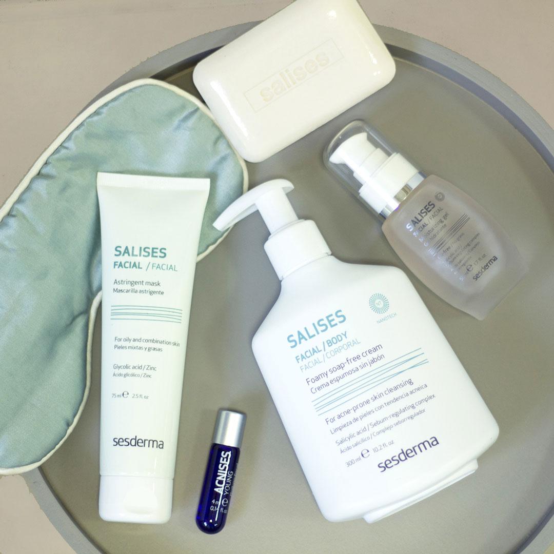 productos Sesderma para ayudarte a eliminar el acné y las manchas rojas